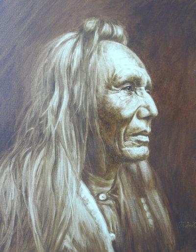 """""""L'indien""""  61 x 50 cm"""